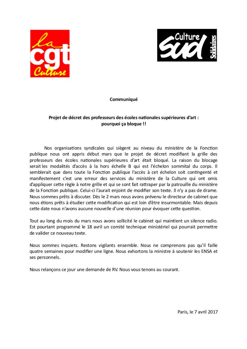 Projet de d cret des professeurs des coles nationales - Grille avancement d echelon fonction publique territoriale ...